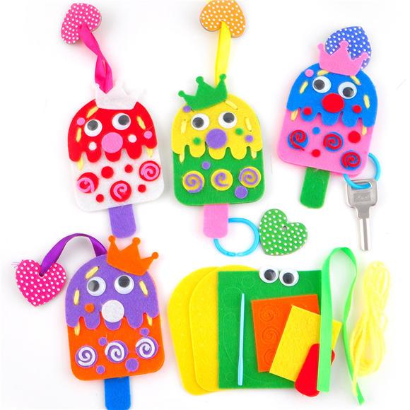 幼儿园课堂手工diy创意手工糖果钥匙包材料包
