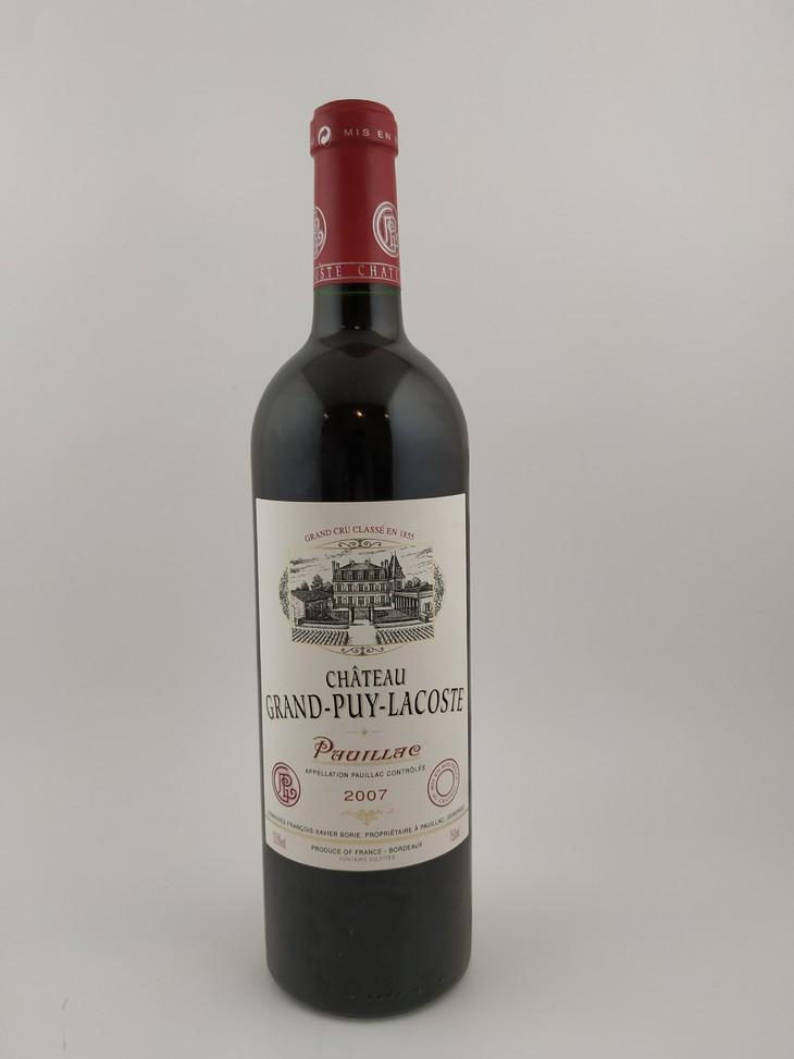 2007年 拉古斯酒庄干红葡萄酒 750ml 1瓶(i-轻微地 spc胶帽 in酒位 st