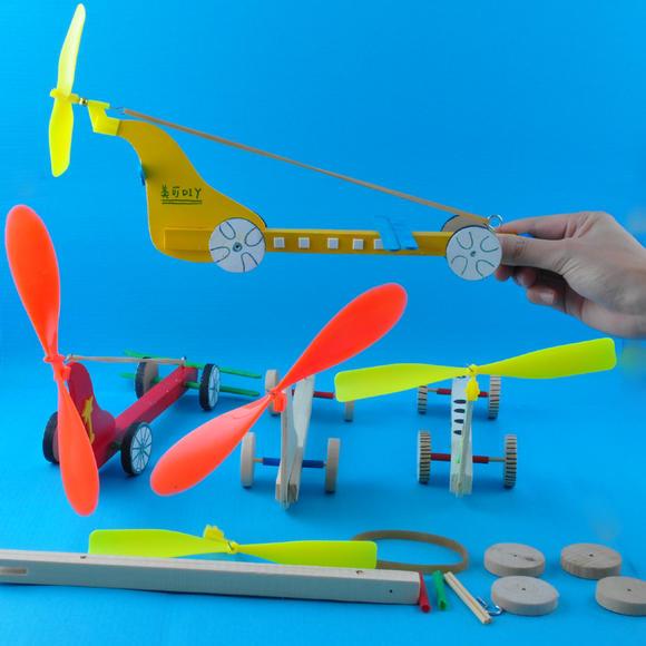 幼儿园课堂手工diy创意手工,木制飞机材料包