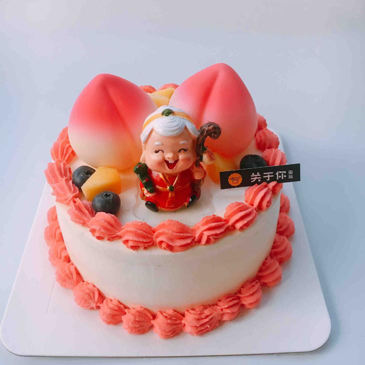 标配15套      [产品介绍] 产品名称:祝寿蛋糕 食材:安佳动物奶油