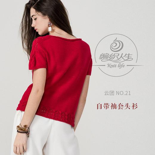云团织NO.21 自带袖套头衫材料包 非成品 含图解无视频 商品图0