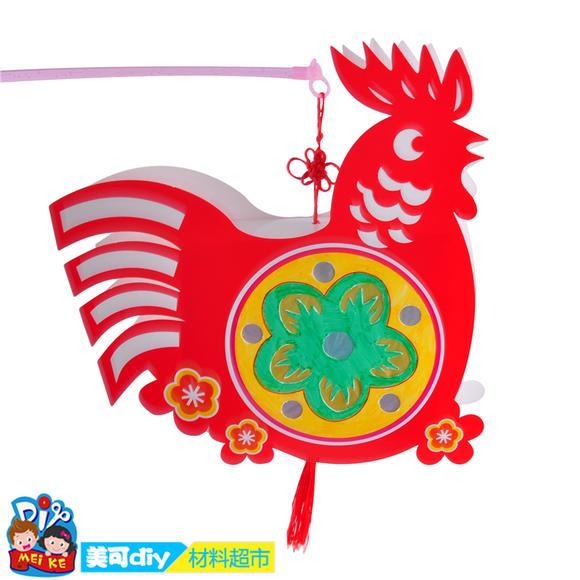 中秋节手工diy十二生肖卡通灯笼卡通动物手提灯笼幼儿
