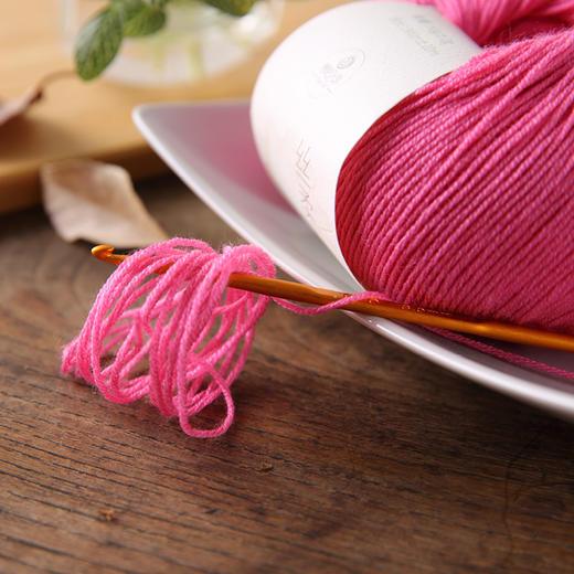 【丝柔】75%澳洲防缩羊毛25%真丝手编细毛线 商品图4
