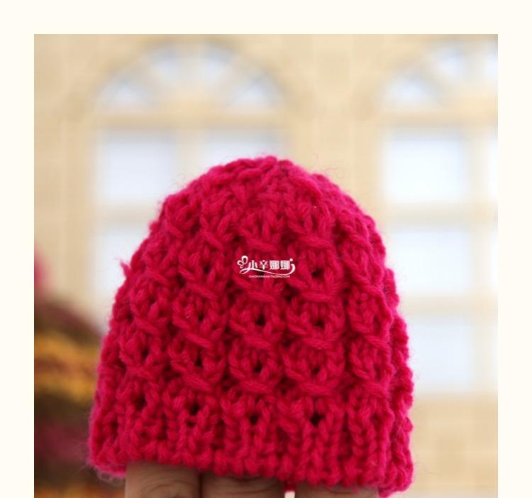 铜钱花帽子编织材料包小辛娜娜钩织大人老年人儿童帽子冬季毛线帽
