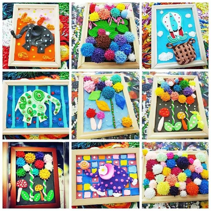 全套配套材料 黏土陪玩课,教孩子用黏土制作出大师级浮雕艺术作品