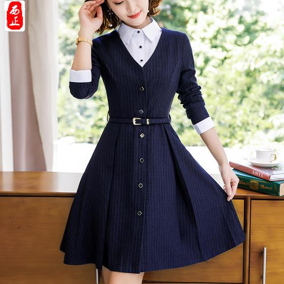 国�y�j�olylވ^XZ���_xz-1826yl时尚ol条纹正式职业套装裙