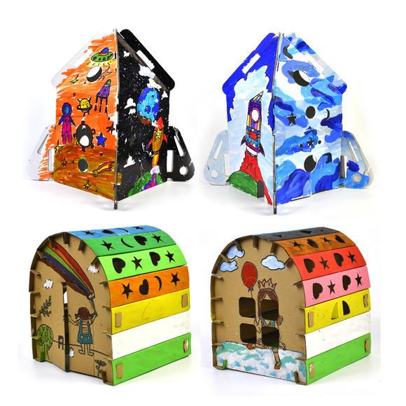 儿童幼儿创意diy手工制作纸房子