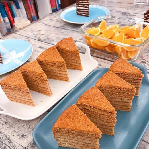 【进口版】俄罗斯进口版提拉米苏双山系列GKK蜂蜜奶油味多层蛋糕每个500g每个两种口味 商品图6