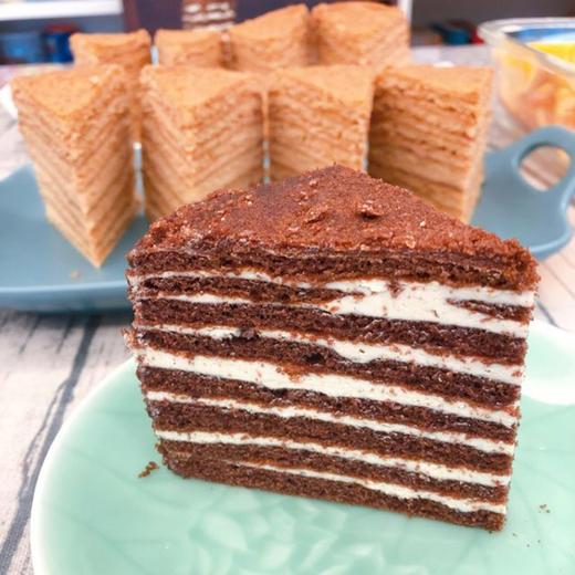 【进口版】俄罗斯进口版提拉米苏双山系列GKK蜂蜜奶油味多层蛋糕每个500g每个两种口味 商品图2