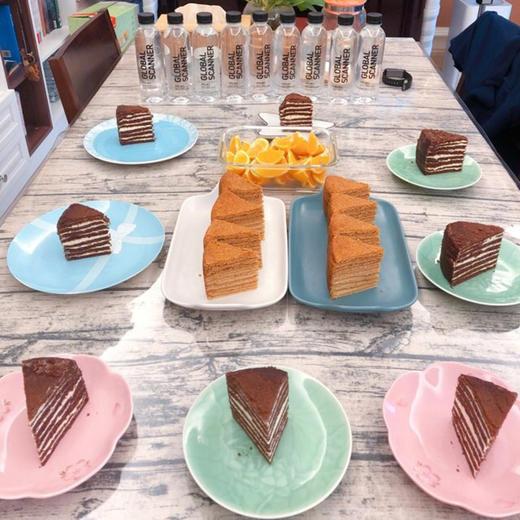 【进口版】俄罗斯进口版提拉米苏双山系列GKK蜂蜜奶油味多层蛋糕每个500g每个两种口味 商品图5
