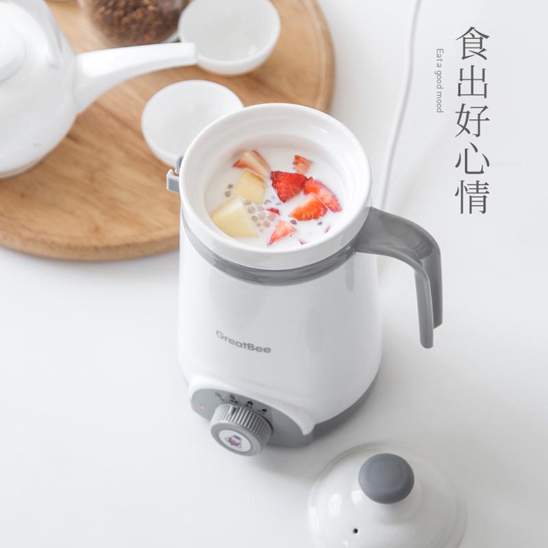 【办公室电炖煮粥杯】学生宿舍陶瓷养生杯电热 小迷你全自动加热牛奶