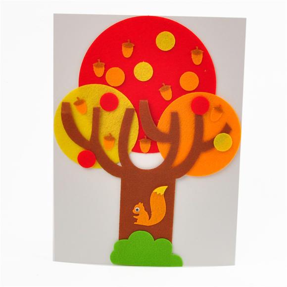 不织布大树meike儿童布艺粘贴画幼儿园早教创意手工