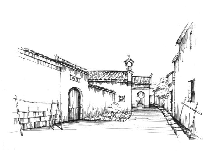 宏村写生系列步骤临摹图一行手绘培训北京校区