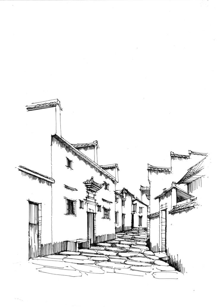 安徽西递宏村|一行手绘建筑设计手绘写生系列