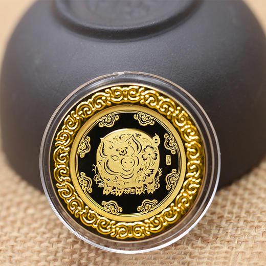2019年猪年生肖贺岁(3克金+30克银)纪念章套装(99.9%) 商品图2