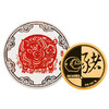 2019年猪年生肖贺岁(3克金+30克银)纪念章套装(99.9%) 商品缩略图0