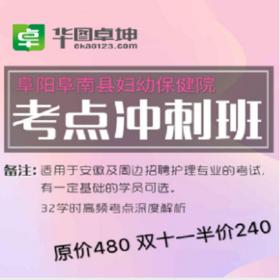 【双11特惠 5折】阜阳阜南县妇幼保健院 考点冲刺班