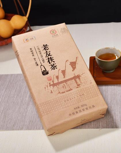 茶人岭  老友茯茶 安化黑茶 金花茯茶800g 商品图4