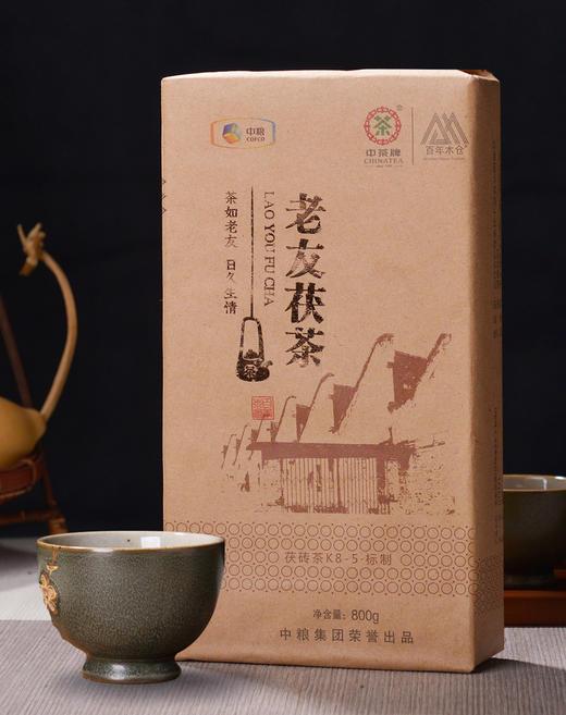 茶人岭  老友茯茶 安化黑茶 金花茯茶800g 商品图0