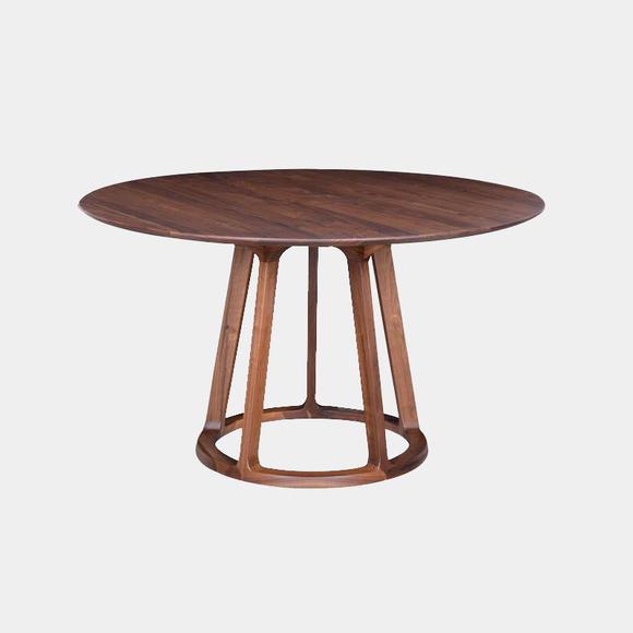 北美黑胡桃木丨圆形桌腿 圆桌