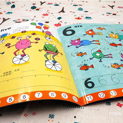 【3岁+】英国Usborne写写擦擦认知书!幼升小,英语、数学、时间启蒙 商品图7