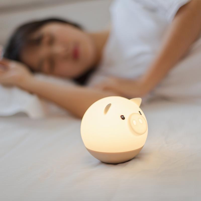 Flydee捣蛋猪情感灯 可爱暖心小灯 声控调光 不倒翁设计 减压神器 商品图5