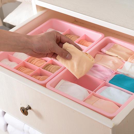 内衣内裤收纳盒女家用塑料衣柜抽屉式三套有盖分隔袜子文胸整理箱 商品图3