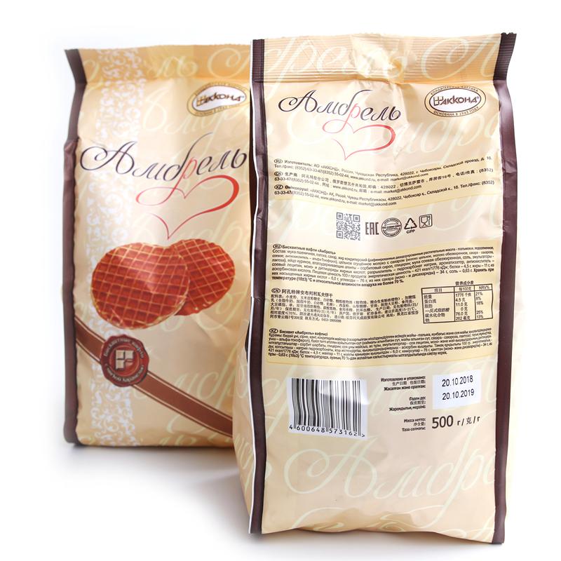 进口食品 俄罗斯蜂蜜拉丝饼500g包邮 商品图1