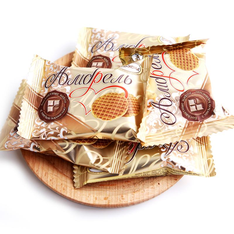 进口食品 俄罗斯蜂蜜拉丝饼500g包邮 商品图5
