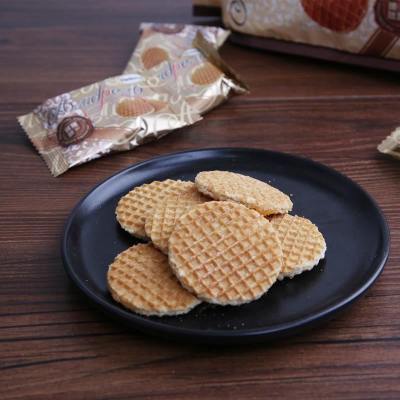 进口食品 俄罗斯蜂蜜拉丝饼500g包邮 商品图6