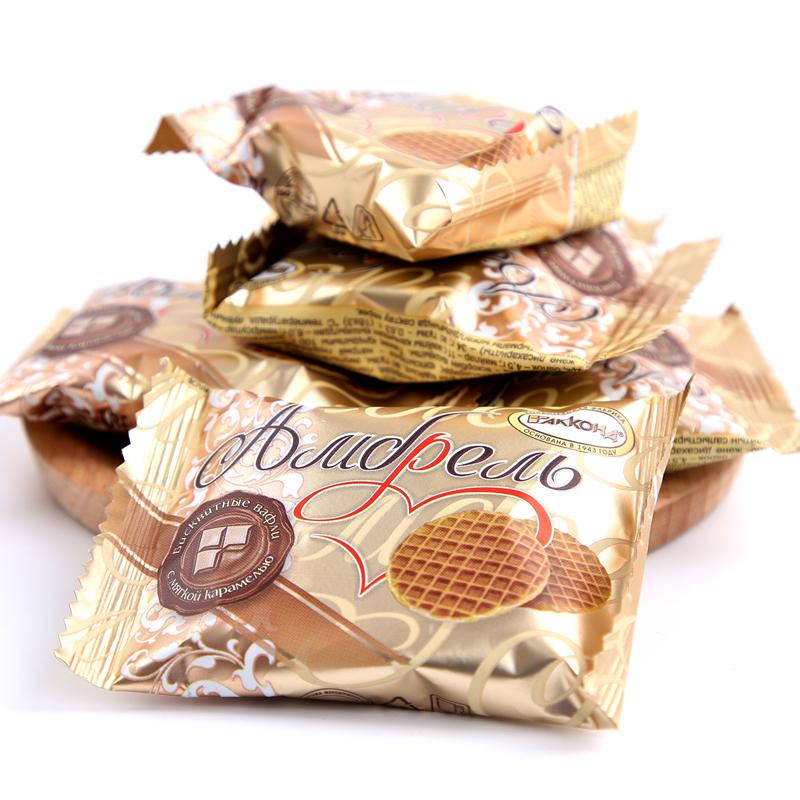 进口食品 俄罗斯蜂蜜拉丝饼500g包邮 商品图4