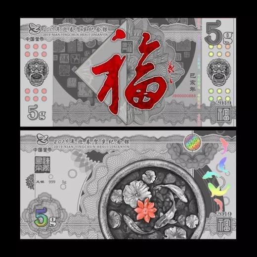 中国金币:2019年迎春贺岁纪念银 商品图2