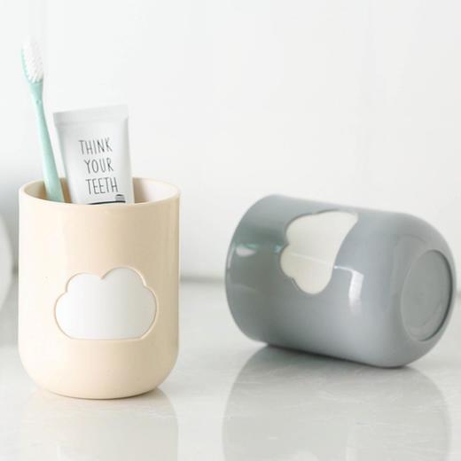 小麦秸秆环保云朵漱口杯 情侣牙刷杯 两个装 颜色随机 商品图2