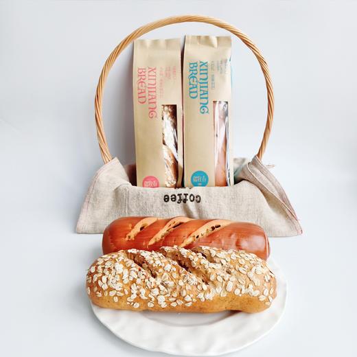 新疆俄罗斯风味列巴 面包早餐 果仁黑麦两种口味 365克*2 商品图4