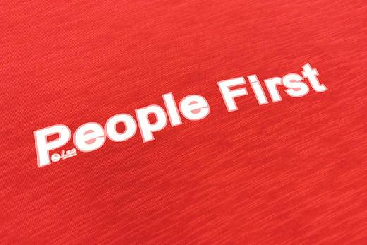 人民网两会记者同款「人民红」People First 帽衫长袖卫衣 竹节棉 男女情侣 商品图4