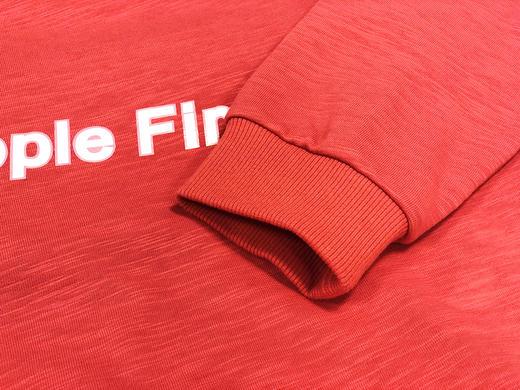 人民网两会记者同款「人民红」People First 帽衫长袖卫衣 竹节棉 男女情侣 商品图7