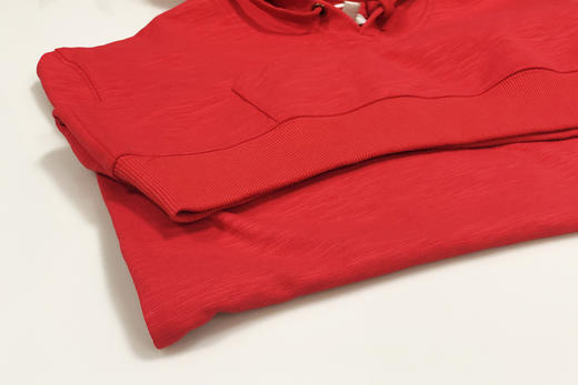 人民网两会记者同款「人民红」People First 帽衫长袖卫衣 竹节棉 男女情侣 商品图6