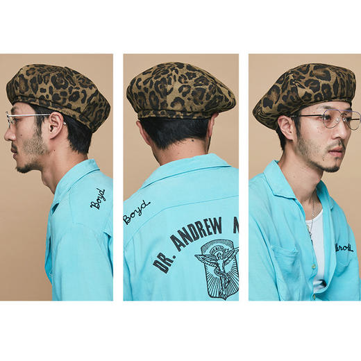 Millionaire Hats韩国设计师品牌个性时尚纯棉豹纹贝雷帽女坏月亮PLUS 商品图2
