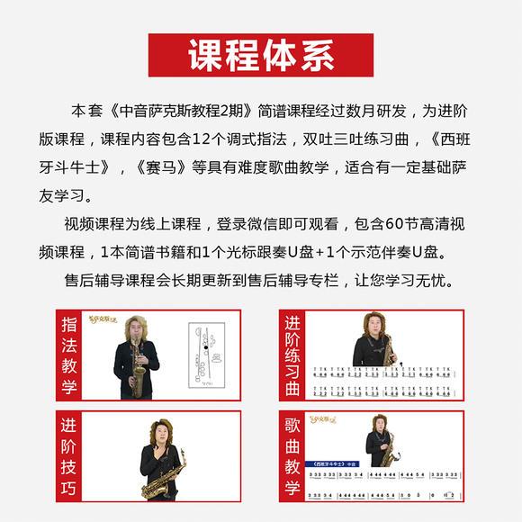 中音萨克斯教程2期技巧(2节演奏教程+10节练822v中音wp10简谱图片
