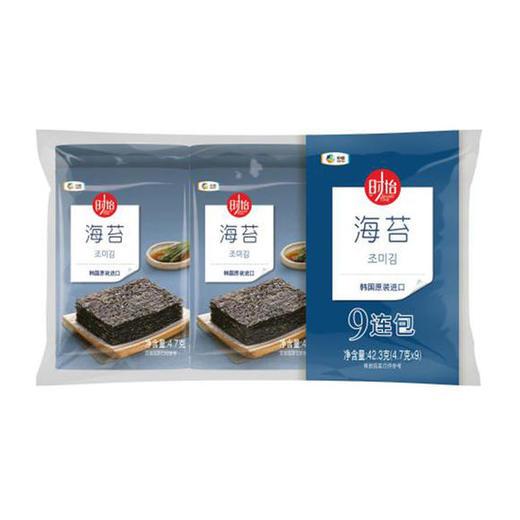 【韩国原装进口】中粮时怡海苔九联包 4.7g*9袋/包 商品图1