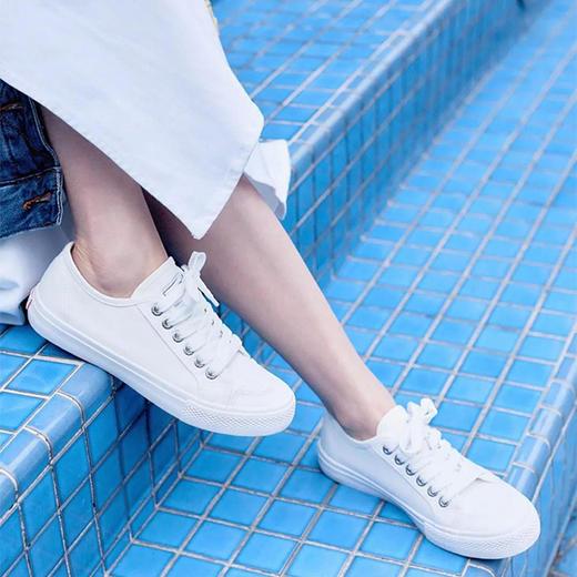 不怕水的英国 Rockfish 小白鞋!梅根王妃怀孕都穿,防雨防污,显腿长! 商品图14