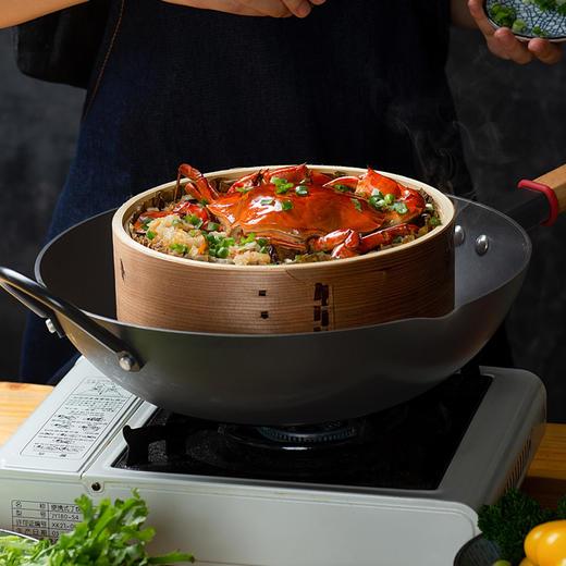 悦味铁锅 大容量、超轻便,不易粘锅、不易生锈 商品图3