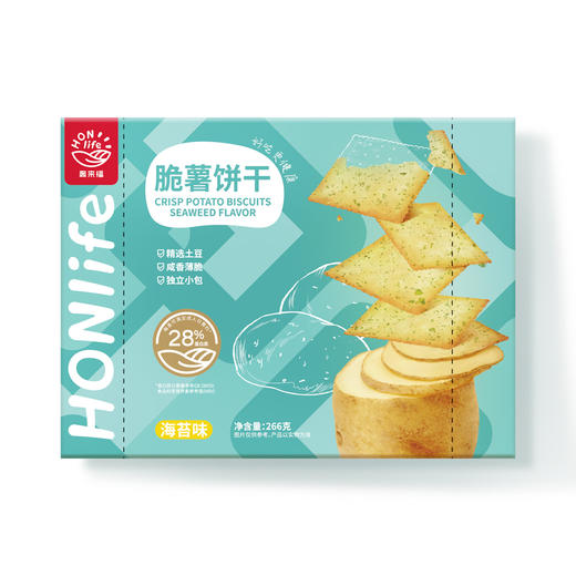HONlife|好麦多 脆薯饼干 精选土豆 咸香薄脆 商品图5