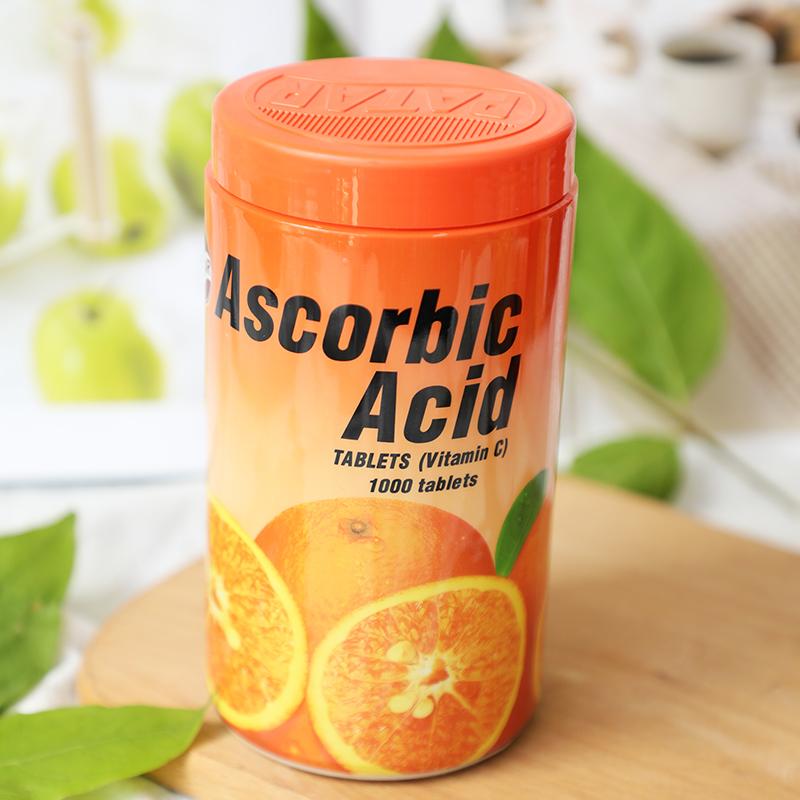 「一口一个大香橙!」泰国PATAR葩塔维生素C咀嚼片1000粒/瓶 易吸收 满足每日所需 酸甜香橙口味 VC片咀嚼片 老少皆宜