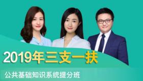 2019年三支一扶公共基础知识系统提分班(5.28-6.19)
