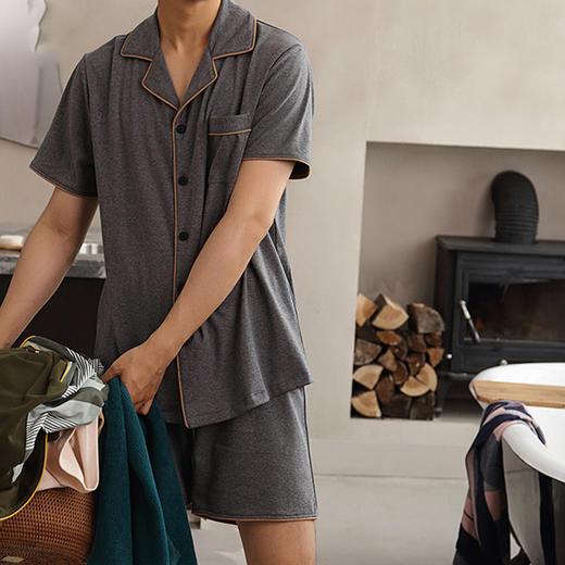 【为思礼】日本简约风格,夏季薄款日式和风/纯棉情侣/居家服衣/浴衣,有品味的情侣都忍不住了..... 商品图5