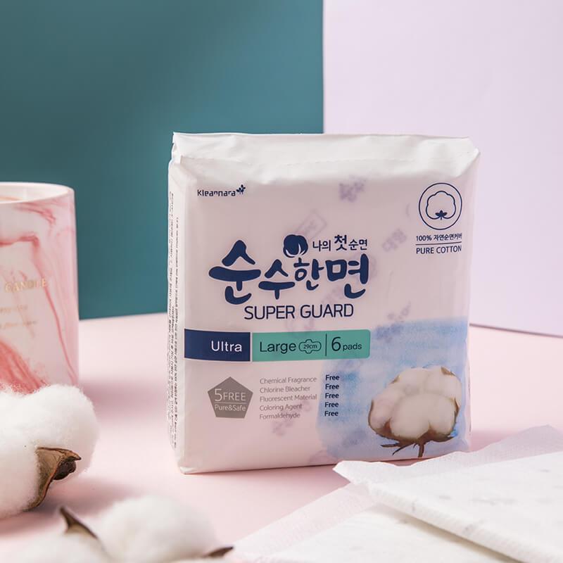 韩国可绿纳乐纯棉美人卫生巾