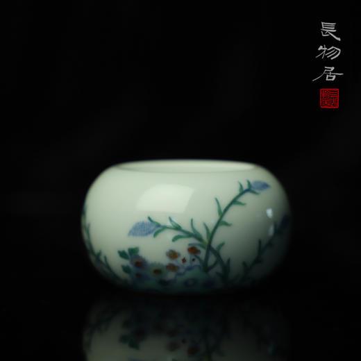 长物居 手工陶瓷斗彩花卉纹书镇 商品图1