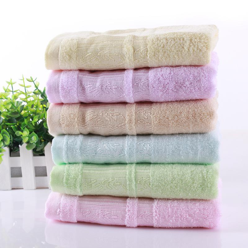 斜月三星 3条装天然竹纤维素色毛巾 家庭专用 柔软吸水 35*75cm