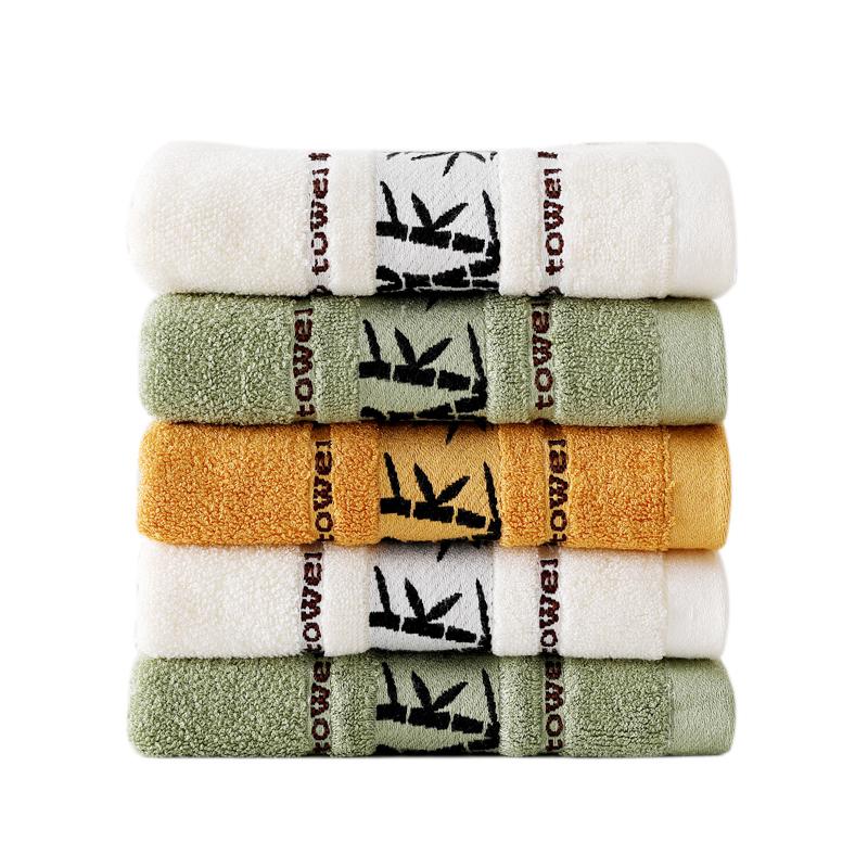 斜月三星 3条装天然竹纤维毛巾 家庭专用 柔软吸水 35*75cm